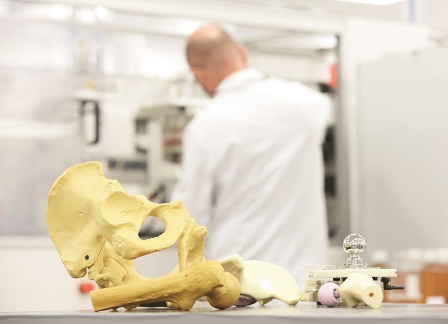 Skull in lab with medical doctor