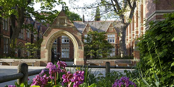 External with flowers clothhall courtyard